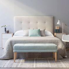 Due cabecero Más Beautiful Bedrooms, Home, Home Furniture, Bedroom Interior, House Rooms, Diy Bedroom Decor, Room Inspiration, Home Deco, Bedroom Deco