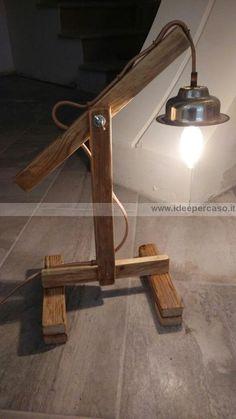 lampada diy upcycling pallet