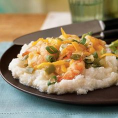 Southern Shrimp and Grits Recipe, Cooking Light March 2013 issue, ready in 30 minutes.