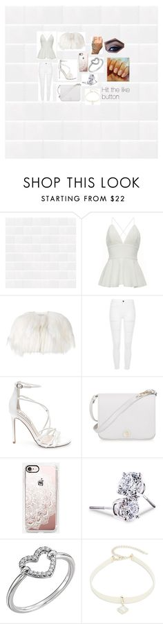 """""""Fehér - White in Hungarian"""" by jordyn2802 on Polyvore featuring beauty, Valentino, River Island, Steve Madden, Furla, Casetify, Lord & Taylor, Design Lab, white and hungarian"""