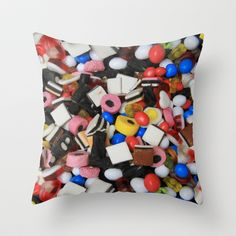 Sweets Candy cases Throw Pillow by David French whsuk ltd - $20.00