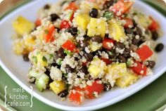 Mango and Black Bean Quinoa Salad - when I make this, I'll figure the WW points.  Can't be too bad & sounds delish - especially for warmer weather.