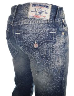 True Religion Jeans Mens Size 33 Straight with Flaps in Miracle Eye NWT $227 #TrueReligion #ClassicStraightLeg
