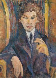 Jeanne Hebuterne - Portrait De Chaïm Soutine