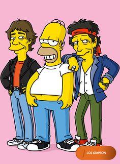 Homero, tan rockstar como los Rolling Stones.  Los Simpson - Domingos 20.30   #LosSimpsonEnFOX #MeGustaFOX Mira contenido exclusivo en www.foxplay.com