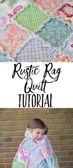 Rustic Rag Quilt Tutorial - a super easy and quick quilt (great for beginners) that looks well loved and cozy from the very first wash!