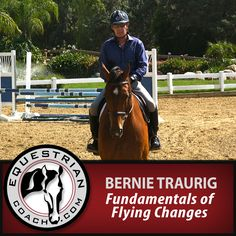 """Here is an in depth look at the building blocks that are required for a perfectly executed flying change. In this topic Bernie Traurig breaks down and examines each component of a flying change and demonstrates exercises that will give your horse every opportunity to change leads on cue. View """"Fundamentals of Flying Changes"""" on EquestrianCoach.com at: http://www.equestriancoach.com/content"""