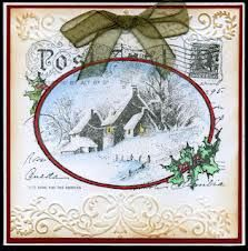 Stampendous snowy postcard