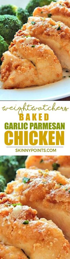 Baked Garlic Parmesan Chicken With Only 7 Weight Watchers Smart Points