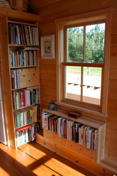 Tiny House Window  Bookcases