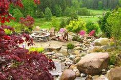 Backyard rock garden idea.