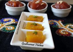 Wheat Halwa / Godhumai Halwa is very famous throughout India. People of different parts of India have their own version of Wheat Halwa. Sweet Desserts, Cantaloupe, Panna Cotta, India, Traditional, Fruit, Ethnic Recipes, Easy, Kitchen