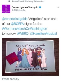 I cannot believe they put Merida, Hermione, and Wonder Woman on a freaking women's march poster!