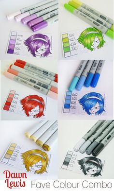 Favorite copic color combinations for hair