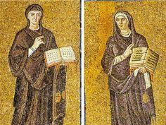 Basilica di Santa Sabina, Roma. I mosaici del V secolo (432–440).  La Chiesa dei gentili e la Chiesa della circoncisione.