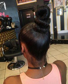 Natural Hair Bangs, Natural Braids, Natural Hair Styles, Short Hair Styles, High Ponytail Braid, Sleek Ponytail, Ponytail Hairstyles, Hairstyles With Bangs, Ninja Bun