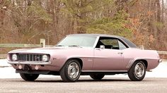1969 Chevrolet Camaro Z/28 in special-order 1965 Evening Orchid paint and stripe-delete