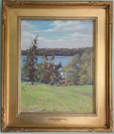 Emma Eilers oil. June Morning, Hempstead Harbor. Private Collection of family member.
