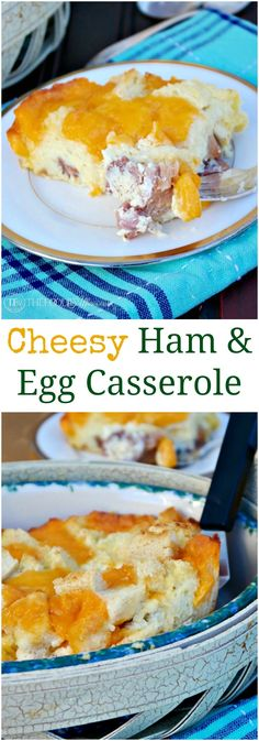 overnight cheesy ham egg casserole