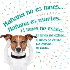 Mañana no es #Lunes... Mañana es #Martes... El #Lunes no existe... El #Lunes no existe... El #Lunes no existe... No existe... No existe... No... #Citas #Frases @Candidman