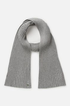 #Lacoste Women's Green Croc Cotton #Cashmere Ribbed #Scarf