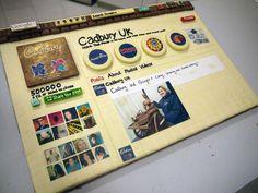 Cadbury UK built their Google+ page as a chocolate cake!