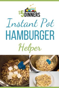 Learn how to make this instant pot hamburger helper recipe! This macaroni is made in the instant pot, and you add some ground beef and whatever spices you want to create the tastiest dinner dish! #instantpotrecipes #macaroni #dinnerrecipes Quick Recipes, Quick Easy Meals, Hamburger Helper Recipes, Ranch Dressing Recipe, Drying Pasta, Instant Pot Dinner Recipes, Cooking, Food, Dinners