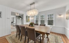 Dining room in Classic 1930's Center Hall Colonial with contemporary style | 50 Shingle House Road, Chappaqua, NY | Karin Kimtis of Houlihan Lawrence Chappaqua