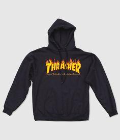 Thrasher Flame Logo Hoodie £59.99 at www.lariatt.com