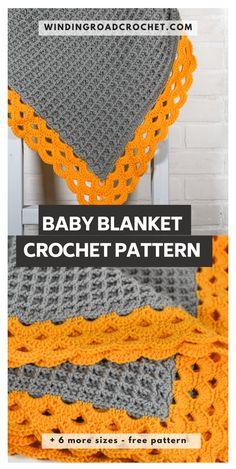 Crochet Border Patterns, Crochet Blanket Border, Crochet Boarders, Crochet Baby Blanket Free Pattern, Crochet Bedspread, Baby Afghan Crochet, Free Crochet, Crochet Blankets, Baby Blankets