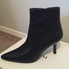 Ankle boots Black ankle boots still new, missing the tags but never wore them. Alfani Shoes Ankle Boots & Booties