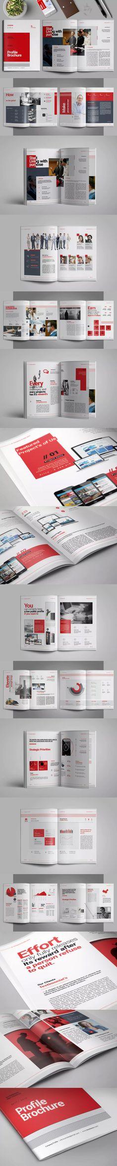 Company Profile Template InDesign INDD A4 | Company Profile Design ...