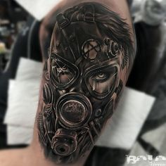 "2,138 Likes, 40 Comments - BOLO️ (@boloarttattoo) on Instagram: ""half sleeve in process, woman with gas mask @Fusion_ink @Fusionink_ca #FusionInk @fkirons…"""