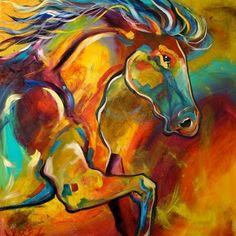 colorful abstract horse