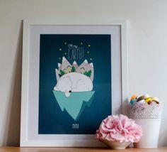 """Mïmo pour """"Oh My Blog""""Illustration - Polar Bear  http://carnetdedouceurs.fr Blog toulousain - Création - Photographie - Découvertes - par la créatrice de Tampons Mïmo"""