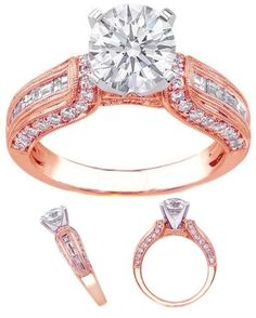 """Pink Gold vintage engagement ring"" by mdc-diamonds ❤ liked on Polyvore"