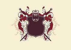 HERALDIC DESIGN SHIELD AND SWORDS VECTOR