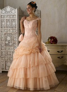 Gorgeous ball gown off the shoulder neck Floor-length quinceanera dress - Elegant Quinceanera Dresses