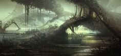 Mysterious Wetlands: The Gateway by *FerdinandLadera on deviantART