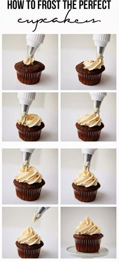 The Best Healthy Recipes: How to frost the perfect cupcakes. I learned this trick at a cake decorating class I took a few years ago and never realized just how easy it was. You just need a few simple tools to get started, then you'll be frosting pretty cupcakes in no time!