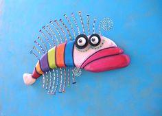 Fish Wall Art Rainbow Trout Original Found Object от FigJamStudio