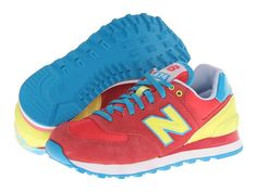 New Balance Classics WL574-Carnival Green - Zappos.com Free Shipping BOTH Ways
