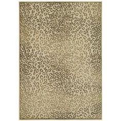 Paradise Leopard Cream Viscose Rug (7'10' x 11'2)