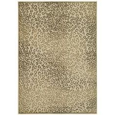 @Overstock.com - Paradise Leopard Cream Viscose Rug (7'10' x 11'2) - Add a ferociously stylish large leopard rug to your interior decor for a cool, contemporary touch that won't go unnoticed. With ultra-soft construction making it soft underfoot, this cozy rug features a cream background with a leopard print design.   http://www.overstock.com/Home-Garden/Paradise-Leopard-Cream-Viscose-Rug-710-x-112/5300634/product.html?CID=214117 $294.97