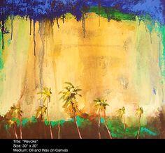 Antigua Artist, Naydene Gonnella, Abstract Paintings