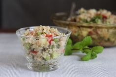 Simple Quinoa Tabouli Salad #client #IBS #FODMAP #lowfodmap