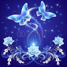 45019429-mariposas-volando-transparente-con-adornos-de-plata-rosa-y-brillantes-fuegos-artificiales.jpg (450×450)