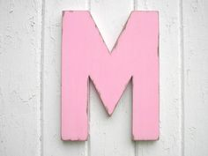 Rustic Shabby chic Wedding decor Letter M Guest by LettersofWood