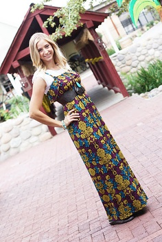Ok, another cute and easy pattern for a maxi dress for beginners!