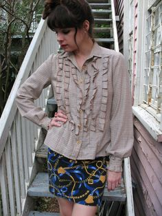frills abound blouse by OceansOfTime on Etsy